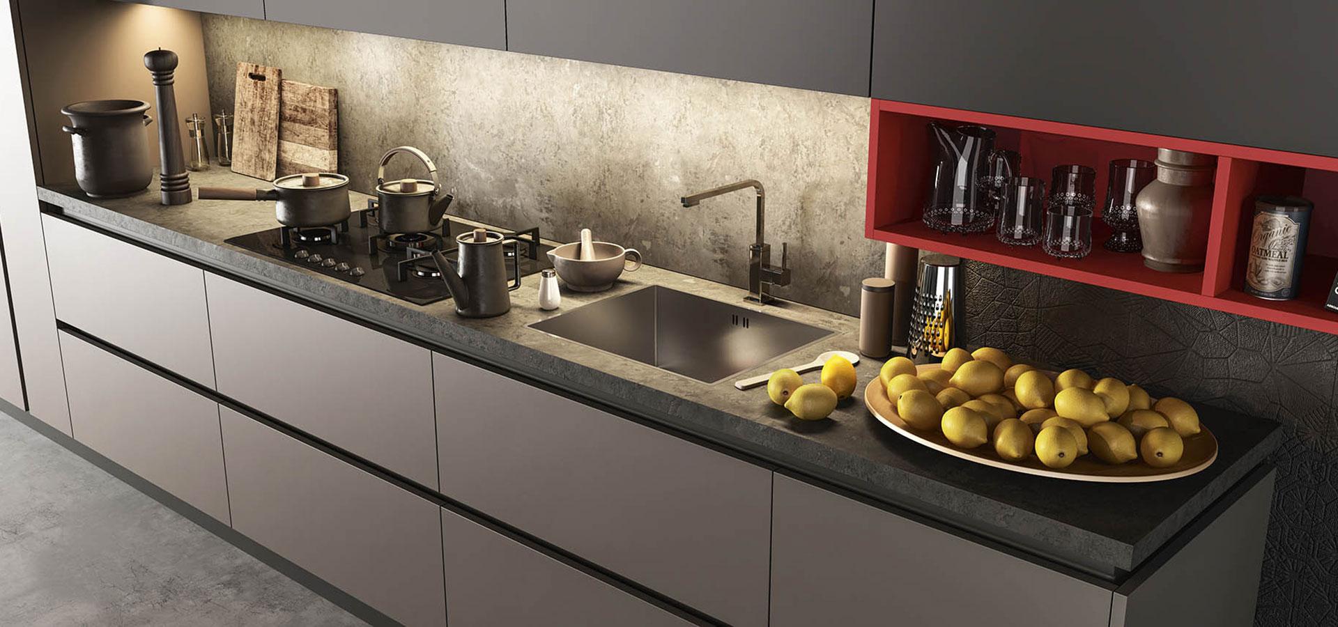 Top cucina come scegliere il materiale pi adatto a te - Cucina nera legno ...